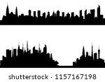 silhouette of tall building.... | Shutterstock .eps vector #1157167198