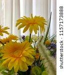 artificial flowers bouquet at... | Shutterstock . vector #1157173888