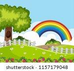 a beautiful garden landscape... | Shutterstock .eps vector #1157179048
