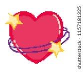 pixelated art hert stars style | Shutterstock .eps vector #1157181325
