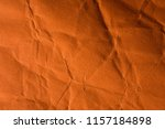 orange crinkle paper background. | Shutterstock . vector #1157184898
