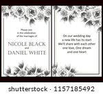 romantic wedding invitation... | Shutterstock .eps vector #1157185492