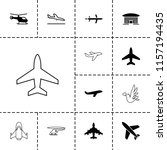 flight icon. collection of 13... | Shutterstock .eps vector #1157194435