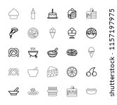 delicious icon. collection of...   Shutterstock .eps vector #1157197975