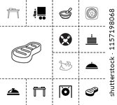 plate icon. collection of 13... | Shutterstock .eps vector #1157198068