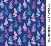 fern frond herbs  tropical... | Shutterstock .eps vector #1157198602