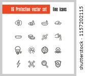 protection icons. set of  line... | Shutterstock .eps vector #1157202115
