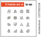 presentation icons. set of ... | Shutterstock .eps vector #1157202118