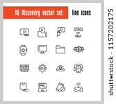 discovery icons. set of line... | Shutterstock .eps vector #1157202175