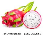 dragon fruit isolated on white...   Shutterstock . vector #1157206558