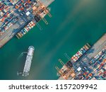 container port terminal keep... | Shutterstock . vector #1157209942