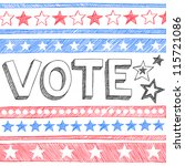 vote presidential election back ... | Shutterstock .eps vector #115721086