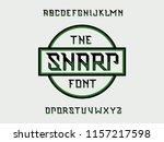 sharp font. vector alphabet... | Shutterstock .eps vector #1157217598
