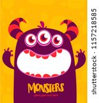 halloween vector monster alien... | Shutterstock .eps vector #1157218585