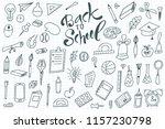 back to shool design elements.... | Shutterstock .eps vector #1157230798