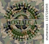 nostalgia on camo texture | Shutterstock .eps vector #1157234545