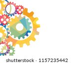 abstract techno gear background ... | Shutterstock .eps vector #1157235442