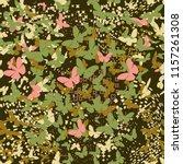 butterflies camouflage seamless ...   Shutterstock .eps vector #1157261308
