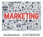 marketing   illustration with... | Shutterstock .eps vector #1157264218