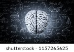 the human brain on the... | Shutterstock . vector #1157265625