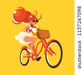 flat character cycling | Shutterstock .eps vector #1157267098