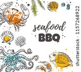 seafood bbq concept design....   Shutterstock .eps vector #1157268922