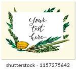 happy sukkot  hand drawn vector ... | Shutterstock .eps vector #1157275642