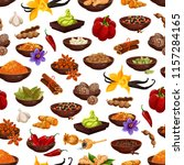 spice and herb seamless pattern ...   Shutterstock .eps vector #1157284165