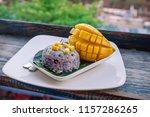 a beautiful healthy breakfast... | Shutterstock . vector #1157286265