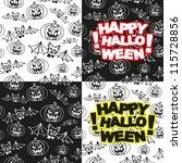 halloween seamless pattern | Shutterstock .eps vector #115728856