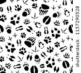 animal track seamless pattern... | Shutterstock .eps vector #1157290528