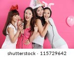 party time together with young...   Shutterstock . vector #115729642