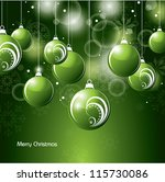 christmas background. eps10... | Shutterstock .eps vector #115730086