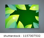 cover leaf green theme foliage... | Shutterstock .eps vector #1157307532