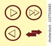 forward vector icons set. with... | Shutterstock .eps vector #1157310682