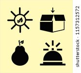 season vector icons set. with... | Shutterstock .eps vector #1157312572