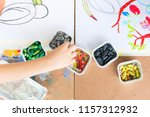 Kids Drawing With Colorful Wax...