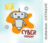 cyber monday sale promo banner...   Shutterstock .eps vector #1157316145