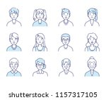 simple set of avatars icons.... | Shutterstock .eps vector #1157317105