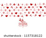 christmas background with... | Shutterstock .eps vector #1157318122