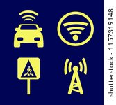 signal vector icons set. with... | Shutterstock .eps vector #1157319148
