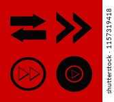 forward vector icons set. with... | Shutterstock .eps vector #1157319418