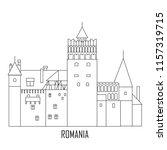castle of dracula. romania... | Shutterstock .eps vector #1157319715