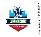 running race people   marathon  ... | Shutterstock .eps vector #1157320825