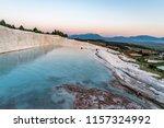 pamukkale  cotton castle ... | Shutterstock . vector #1157324992