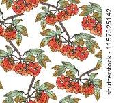 vector seamless patern branch... | Shutterstock .eps vector #1157325142