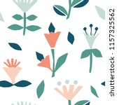cutout flowers and floral... | Shutterstock .eps vector #1157325562