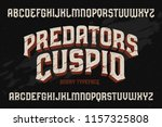 vector vintage typeface with... | Shutterstock .eps vector #1157325808