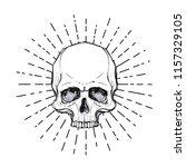 human skull over sacred... | Shutterstock .eps vector #1157329105