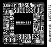 business. word collage on black ... | Shutterstock . vector #115733572